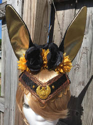 Garnished Anubis floral headband by KatWithKnives