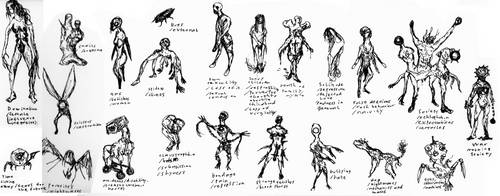 Silent Hill OC monsters by punkandartStJimmy