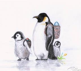 Easter Penguins by punkandartStJimmy