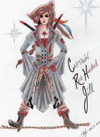 Red Handed Jill by blackmica