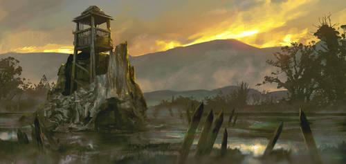 Old Watchtower by Tanzenkat