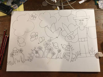 My latest drawing  by doreenpayne
