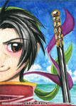 Genso Suikoden ACEO Series - Tir McDohl by AnimeGirlMika