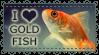 Stamp - I Heart Goldfish by AnimeGirlMika