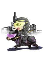 Chibi Sean - Black Bear by AnimeGirlMika