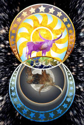 The Sun, the Moon, and the Steers by AnimeGirlMika