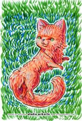 Fluffy Cat by AnimeGirlMika