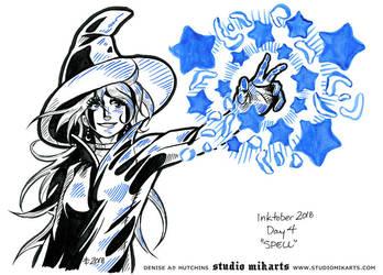 Inktober - Day Four: SPELL by AnimeGirlMika