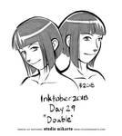 Inktober - Day Twenty-Nine: DOUBLE by AnimeGirlMika