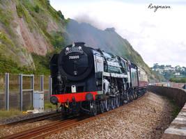 British Railways 70000 'Britannia' at Teignmouth by The-Transport-Guild