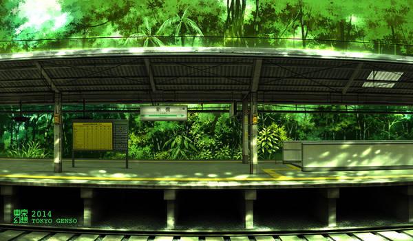Shinbashi Station      summer 2014 by tokyogenso