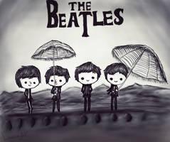 The Beatles - chibi by LarissaAV