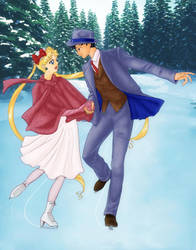 20th Century Senshi - 1940's Usagi and Mamoru by Sillabub429