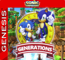 Sonic Generations cart label by razor-ua
