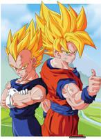 Vegeta and Goku SSJ by agustinlp24
