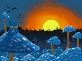 mushwoods sunset by SaintBonkers