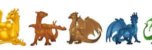 Pern Dragons by bricu