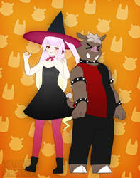Spoopy Father Daughter Bonding by V--R
