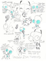 Invader Zim Doodlez by peeps4tea