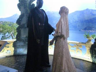 Anakin and Padme by Mokoni