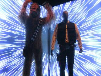 Chewbacca and Han Solo by Mokoni