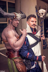 Adoribull Iron Bull and Dorian Dragon Age Cosplay by PhoenixForce85