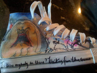 Pink Floyd- The Wall shoes-2 by Zwid