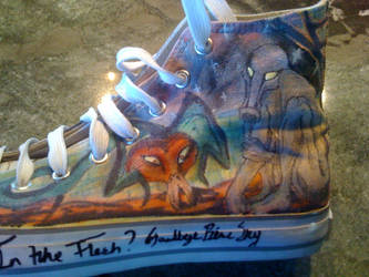 Pink Floyd- The Wall shoes-4 by Zwid