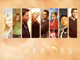 Heroes cast wallpaper 1 by Julushko-navara
