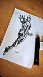 Iron Man Drawing by ZeroFoxFaceless