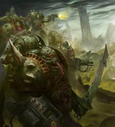 Plague Marines by Narog-art