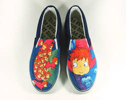 FANART PONYO CUSTOM SHOES , PAINTED SHOES by Annatarhouse