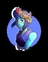 Lapis Lazuli in a flower crown by SuitedPandas