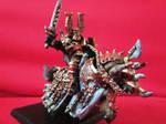 Khorne lord on daemonic mount by Stanfar
