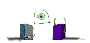 Longarm and Shockwave cube by Shirobutterfly