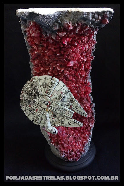 Custom Millennium Falcon Crait diorama by BlckThorne