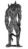 Inktober, Day 10 - Mysterious Monster by Maverick-Werewolf