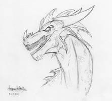 Sketch - Dragon by Maverick-Werewolf
