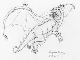 Speed Sketch - Dragon Flight by Maverick-Werewolf