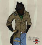 Dying Light - Colored Kyle Crane Werewolf by Maverick-Werewolf