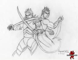 The Twin Princes of Pain - Lye and Kye by Maverick-Werewolf