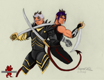 Demon Twins - Lye and Kye (colored) by Maverick-Werewolf