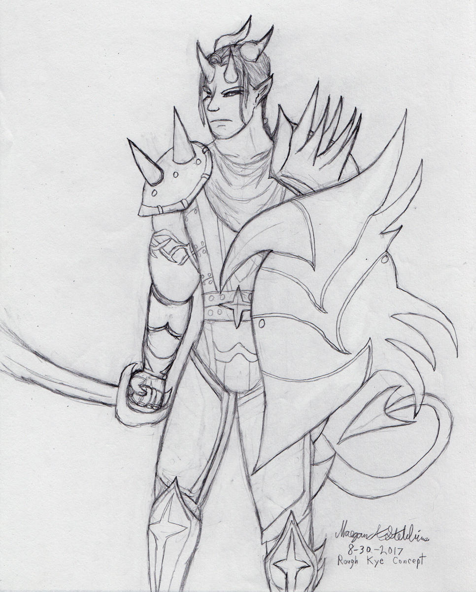 Kye concept sketch by Maverick-Werewolf