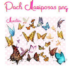 Pack Mariposas PNG :3 by Andiie-Chan