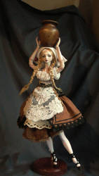 Rosenrot porcelain bjd doll by fernandoartesano