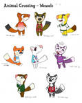 Animal Crossing Weasels by tymime