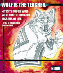 Wolf is the teacher by Erikonil