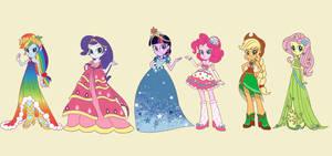 Grand Galloping Gala Dress Girls!!! by snowsmilexxx