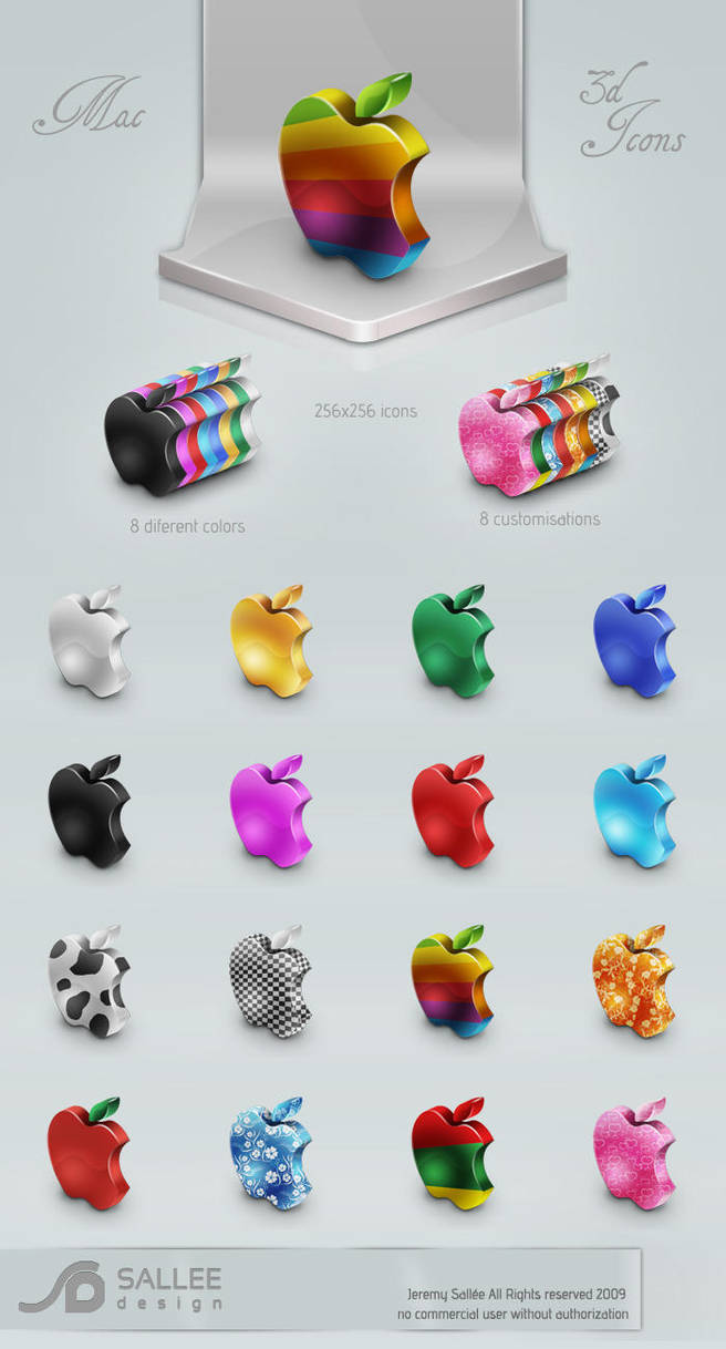 mac 3D icon set by LeMex