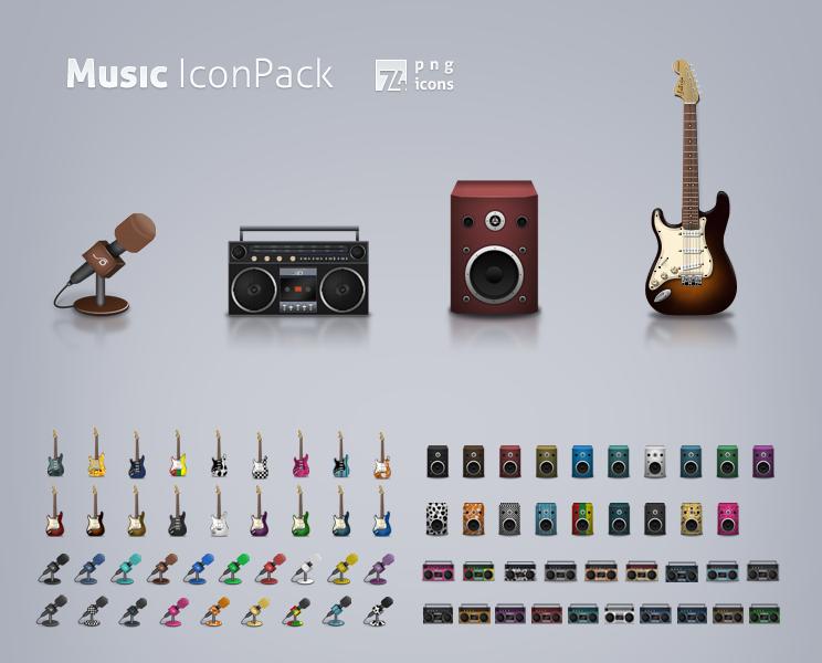 Music icon set by LeMex